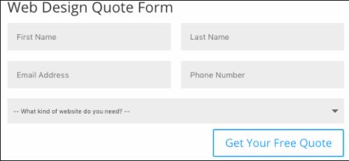 Quote Web Form