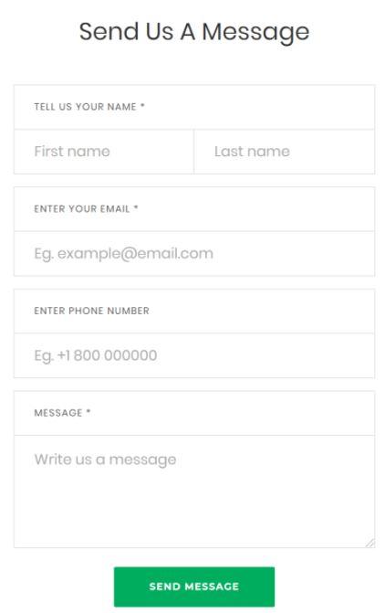Send Message Web Form